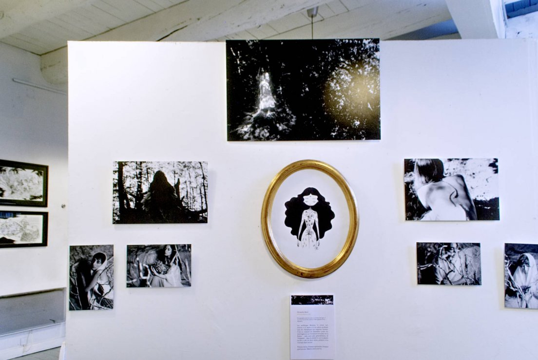 Wall displaying the work of photographer Alexandra Banti