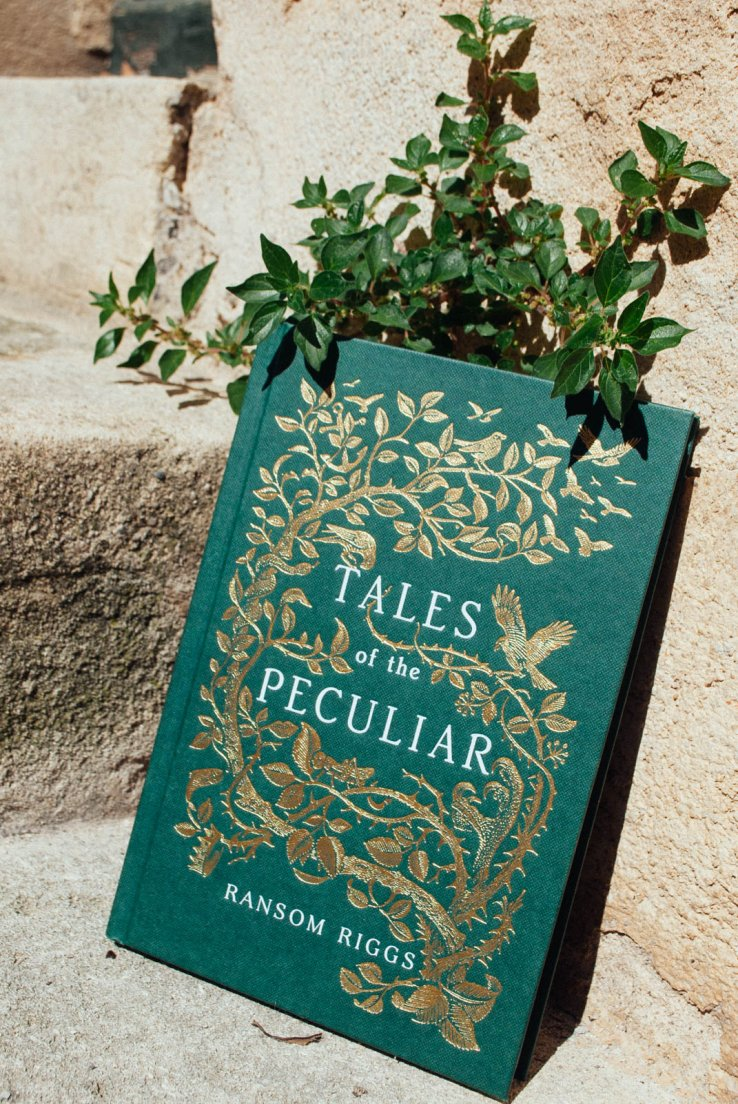 Front view of Tales of the Peculiar by Ransom Riggs, published by Penguin Books in 2016, illustrations by Andrew Davidson