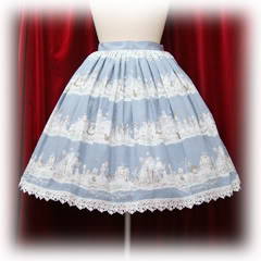 BABY, The Stars Shine Bright — 'Halloween Alice Print' skirt — Blue