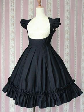 Victorian Maiden — dress — Black