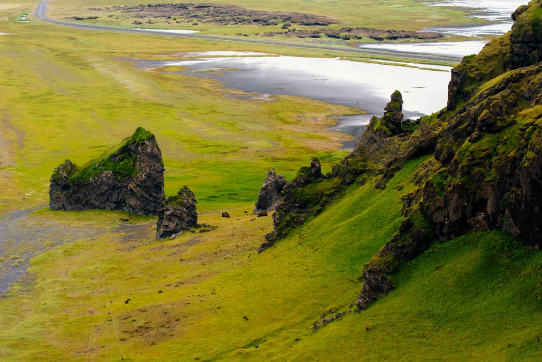Typical icelandic landscape
