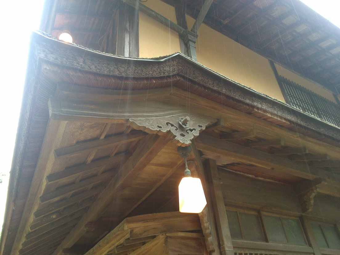 2Architectural detail on a seemingly old japanese guesthouse