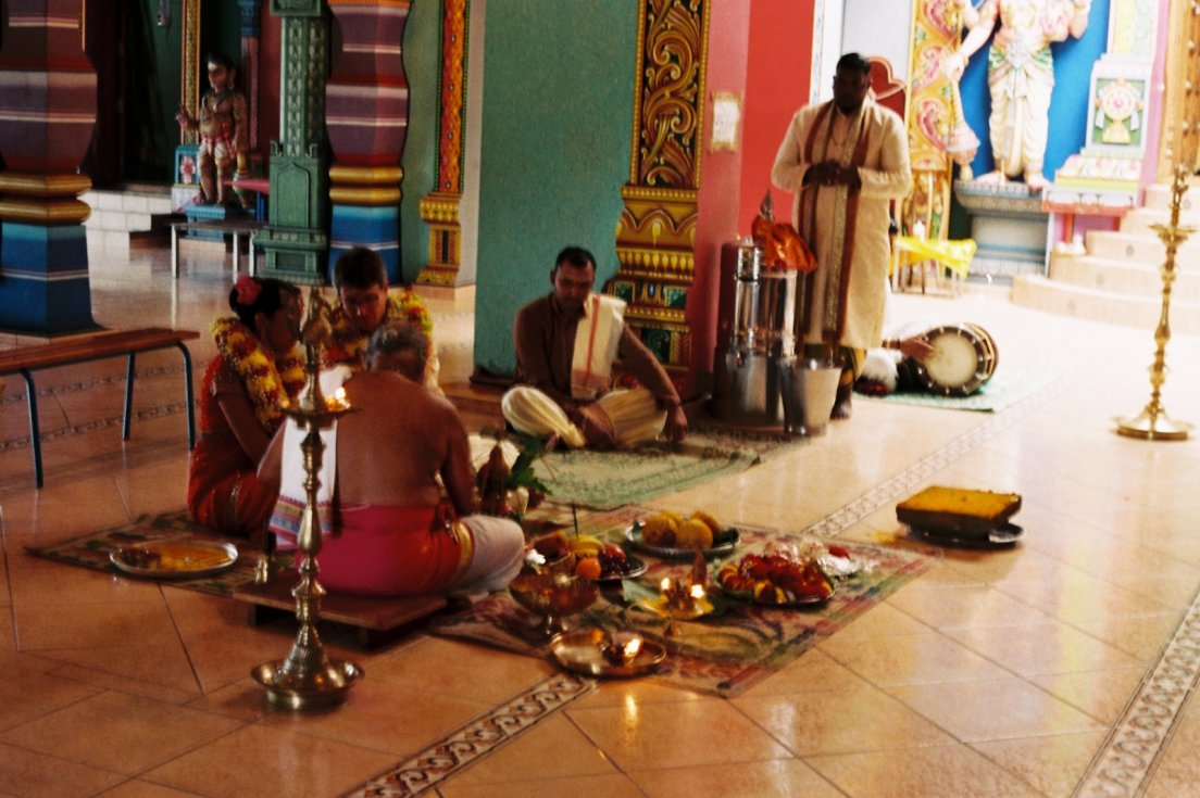 Wedding in a Tamoul temple