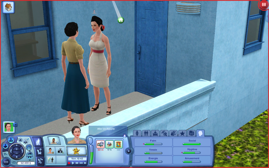 Screenshot from the Sims 3 retro world