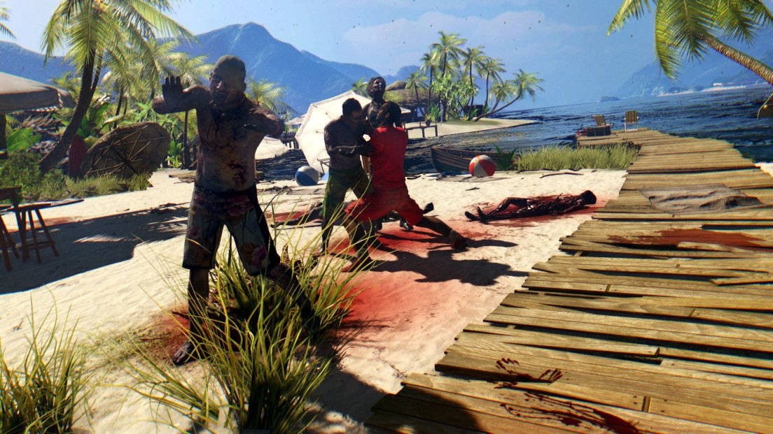 Idyllic beach in the game Dead Island
