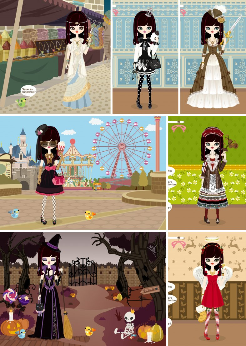My poupee's outfits for the second week of poupéegirl's last month