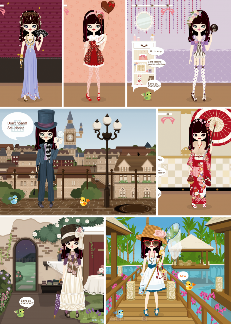 My poupee's outfits for the third week of poupéegirl's last month