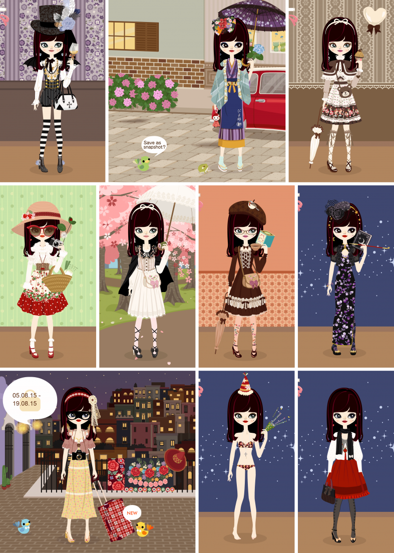 My poupee's outfits for the fourth and fifth week of poupéegirl's last month