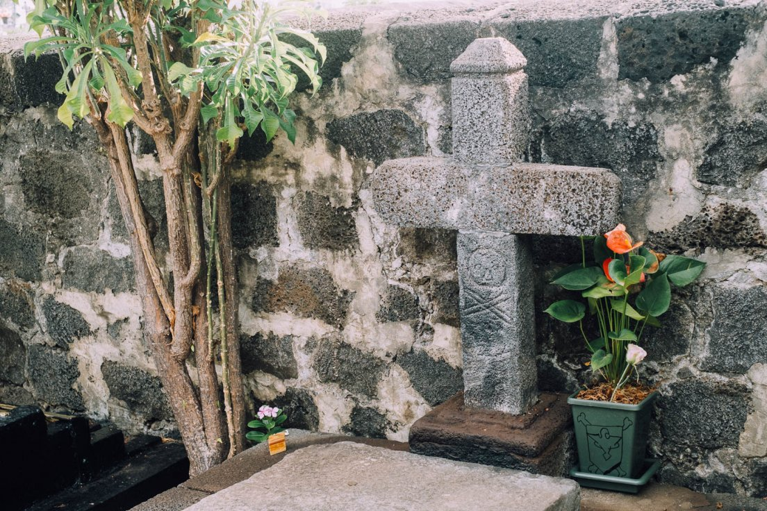 Grave of the famous pirate La Buse, Reunion Island